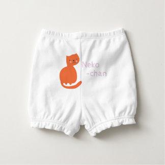 Gato anaranjado lindo de Kawaii. Añada el nombre Cubrepañal