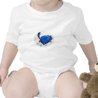 Gato azul en la nieve trajes de bebé