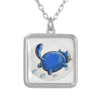 Gato azul en la nieve pendientes personalizados
