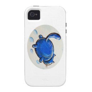 Gato azul en la nieve iPhone 4 funda