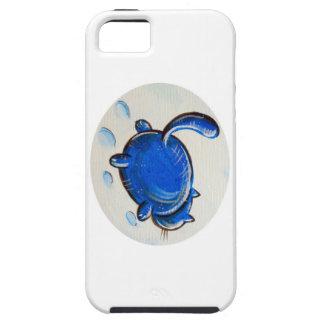 Gato azul en la nieve iPhone 5 Case-Mate protectores