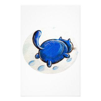 Gato azul en la nieve papeleria