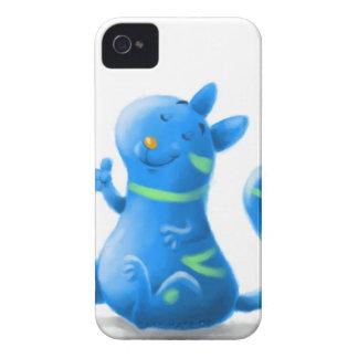 gato azul Case-Mate iPhone 4 cárcasas