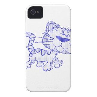 Gato azul iPhone 4 fundas