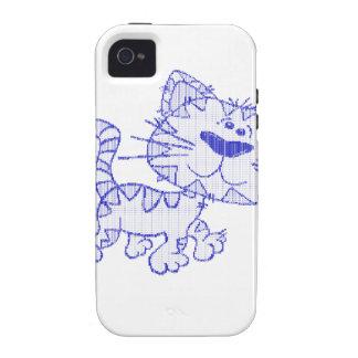 Gato azul iPhone 4 funda