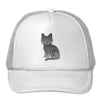 Gato azul ruso gorras de camionero