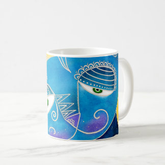 Gato azul taza de café