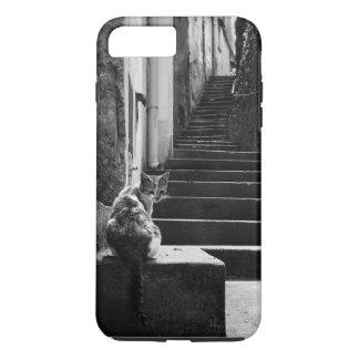 Gato blanco y negro funda iPhone 7 plus