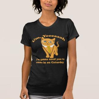 Gato Caturday de la oficina Camiseta