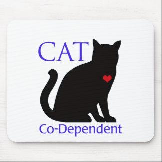 Gato Co-Dependiente Alfombrilla De Ratón