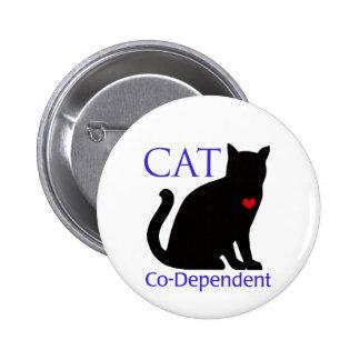 Gato Co-Dependiente Chapa Redonda De 5 Cm