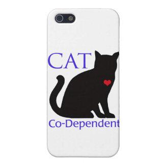 Gato Co-Dependiente iPhone 5 Carcasas
