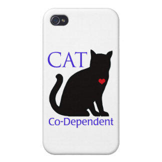 Gato Co-Dependiente iPhone 4/4S Fundas