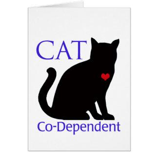 Gato Co-Dependiente Tarjeta De Felicitación