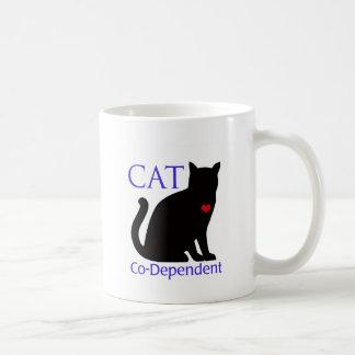 Gato Co-Dependiente Taza Clásica