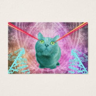 Gato con los ojos del laser tarjeta de negocios