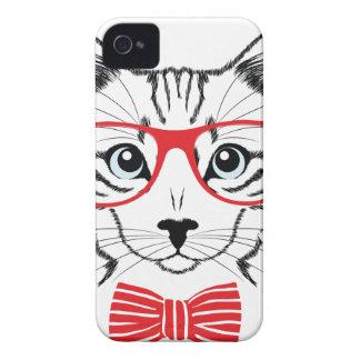 gato con los vidrios carcasa para iPhone 4 de Case-Mate
