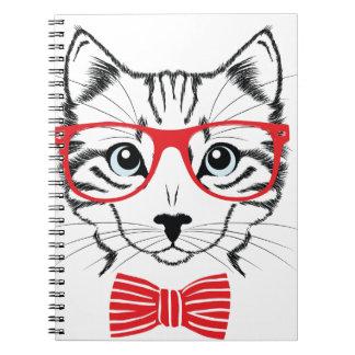 gato con los vidrios cuaderno