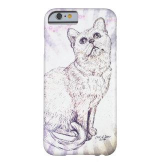 Gato curioso funda barely there iPhone 6