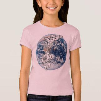 Gato de Astro, gato en espacio Camisetas