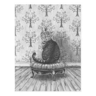 Gato de Cheshire - postal
