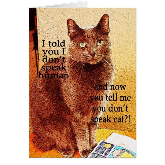 Gato de discurso divertido lindo del gatito tarjeta de felicitación