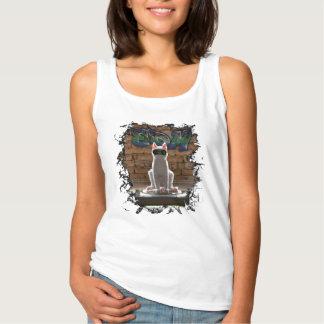 Gato de EDM Camiseta Con Tirantes