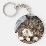 gato de la abrazo llaveros personalizados