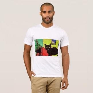 gato de la camiseta del mascota del arthouse con