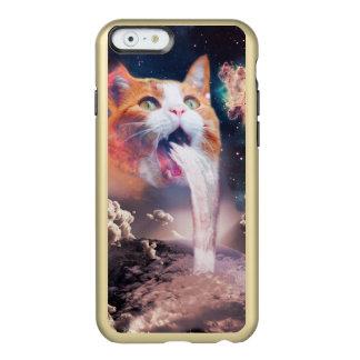 gato de la cascada - fuente del gato - espacie el funda para iPhone 6 plus incipio feather shine