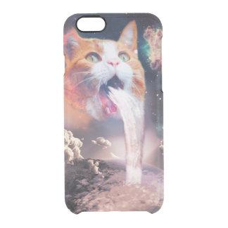 gato de la cascada - fuente del gato - espacie el funda transparente para iPhone 6/6s