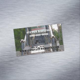 Gato de la construcción tarjetas de visita magnéticas (paquete de 25)