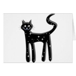 Gato de la estrella tarjeta de felicitación