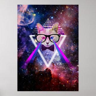 Gato de la galaxia del inconformista póster