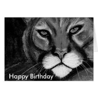 gato de la noche feliz cumpleaños felicitacion