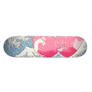 Gato de la persona que practica surf de patines personalizados