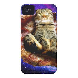 gato de la pizza - gato loco - gatos en espacio carcasa para iPhone 4
