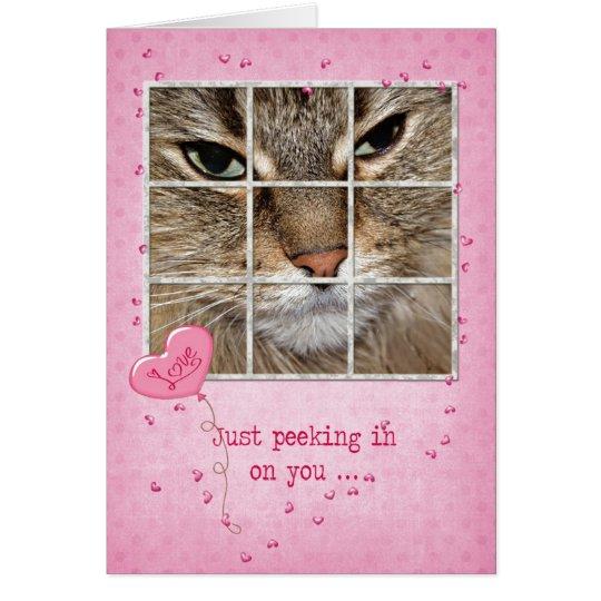 Gato de la tarjeta del día de San Valentín en