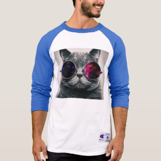 gato de las gafas de sol camiseta