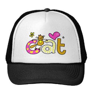 Gato de lujo - impresión de la palabra gorros bordados