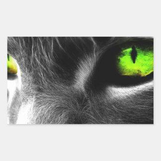 Gato de ojos verdes rectangular altavoces