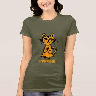 Gato de OM - camiseta divertida de la yoga para