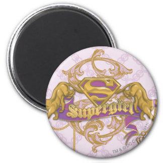 Gato de oro 3 de Supergirl Imán Redondo 5 Cm