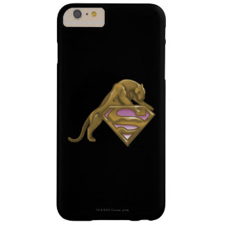 Gato de oro de Supergirl Funda Para iPhone 6 Plus Barely There