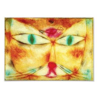 Gato de Paul Klee e impresión de la foto del pájar
