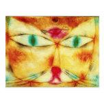 Gato de Paul Klee y postal del pájaro
