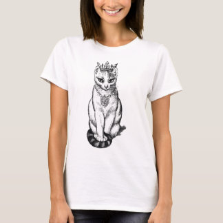 Gato de Purrfect con las joyas de la corona N Camiseta