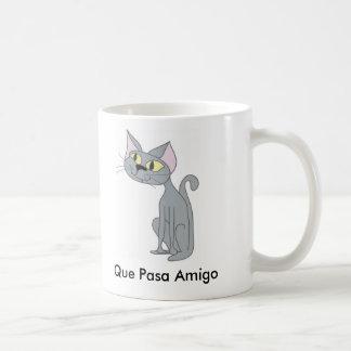 Gato de Que Pasa Taza Clásica