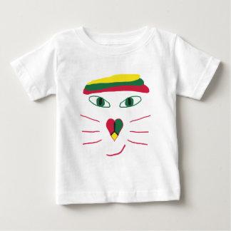 Gato de Rasta Camiseta De Bebé