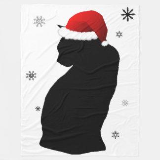 Gato de Santa con la manta del paño grueso y suave